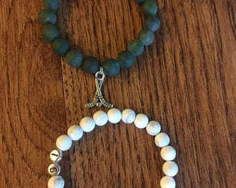 Custom sports bracelets for moms or athletes with sports number or athlete's initals