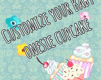 Customized Cupcake Onesie