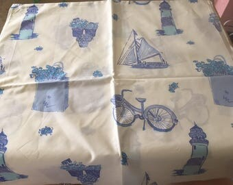 Lilly Pulitzer Nantucket Lighthouse Printed Fabric