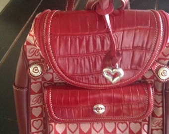 New Brighton red heart backpack