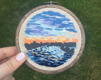 River Embroidery Hoop 4 inches