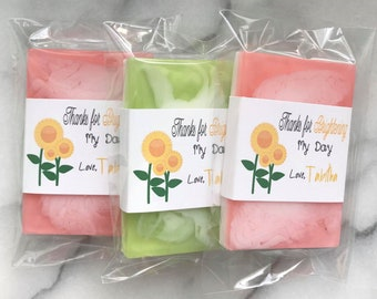 25 Shea Butter Soap Favours Baby Shower Bridal Birthday Wedding Baptism