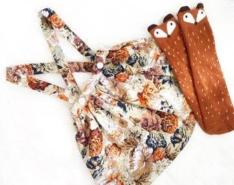 Amber Fall Suspender Skirt