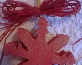 Christmas tree hanging wooden fretwork