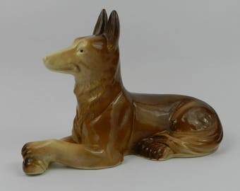 Ceramic figure DOG Saint Clement France French pottery