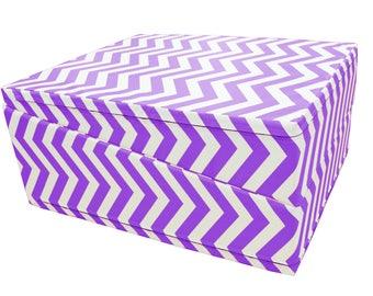 "Folding Purple Chevron Gymnastics Incline Mat Cheese Wedge Mat 29"" x 72"" x 14"""