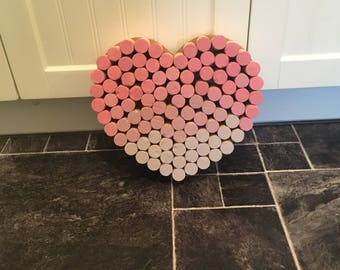 Cork heart- painted fronts or plain