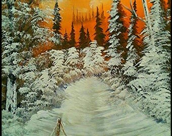 Sunset Winter Snow