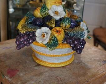 Decorative art - ceramic fruit basket
