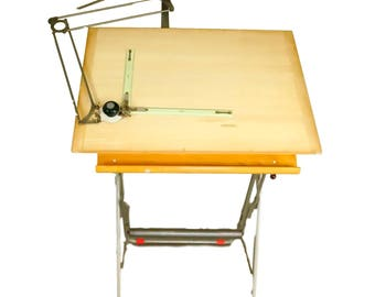 "Drafting table in the industrial design by Nadar. Model ""Student"" - 1960"