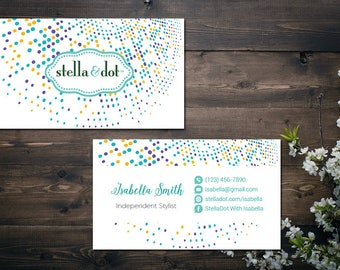 PERSONALIZED Stella and Dot Business Card, Custom Stella and Dot Business Card, Custom Stella and Dot, Printable Business Card SD04