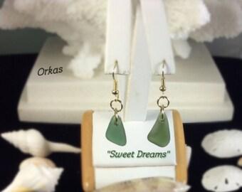 Sea Glass Single Drop Earrings