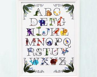 Animal Alphabet Wall Art