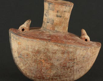 Pre-columbian Recuay duckbill vessel