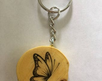 Butterfly Tree Branch key chain