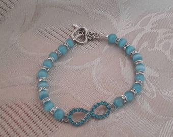 Blue infinity bracelet