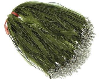 Olive Green Ribbon Cords