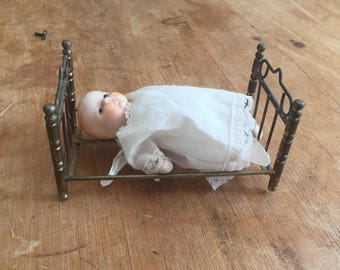 Vintage Baby Doll Russ Berrie and Co with Bed