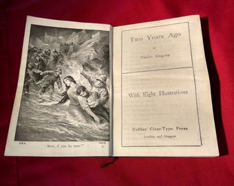Two Years Ago by Charles Kingsley, c. 1910 Vintage Antique Book, Victorian Literature
