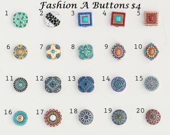 Fashion A buttons