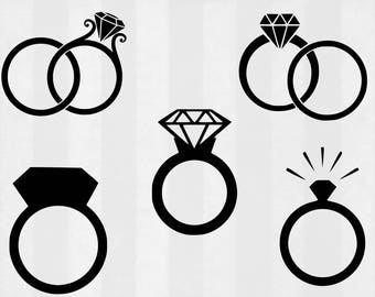Engagement Rint SVG Bundle, Engagement Ring cut files, engaged svg, wedding svg, svg files for silhouette, files for cricut, cuttable design