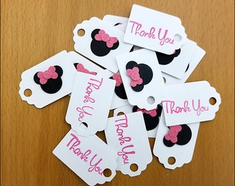 Minnie Mouse Inspired Party Paper Tags