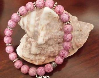 Pink lotus bracelet