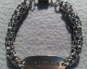 Live Out Loud Byzantine 3 Stainless Steel Bracelet