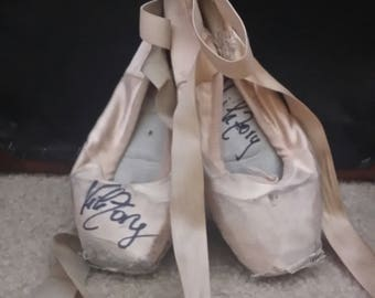 Hand signed Pointe shoes , worn by me - VikTory