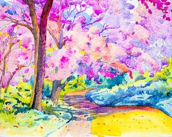 Landscape Watercolour Painting Q82