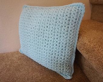 Seafoam Crochet 18x16 Throw Pillow