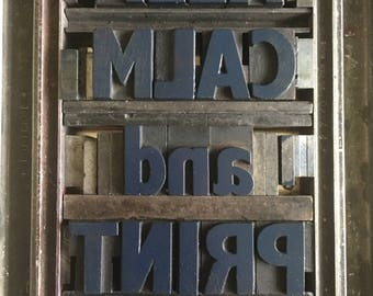Affiche Letterpress Woodtype – Keep Calm and Print #1