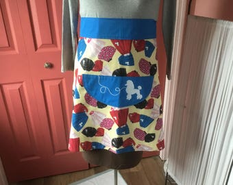 Poodle Skirt Inspired Quarter-round Apron