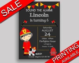 Fireman Birthday Invitation Fireman Birthday Party Invitation Fireman Birthday Party Fireman Invitation Boy editable text printable ONV5V