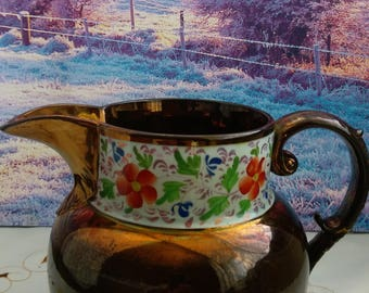 Copper big milk jug, Copper milk jug, copper kitchen, old jug, copper, vintage jug