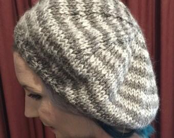 Handknitted beret