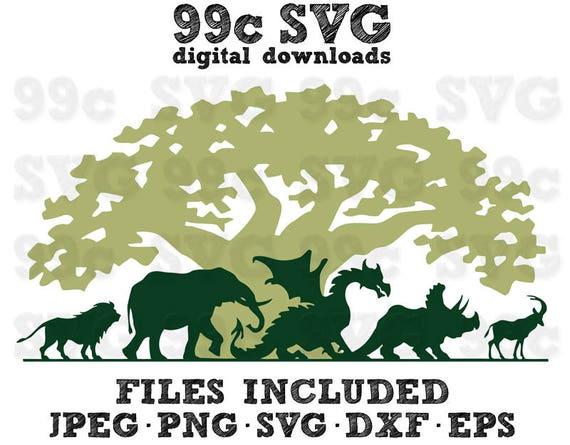 Disney Animal Kingdom SVG DXF Png Vector Cut File Cricut