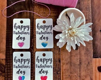 HAPPY VALENTINES DAY Hand lettered Gift Tags   Hang Tags