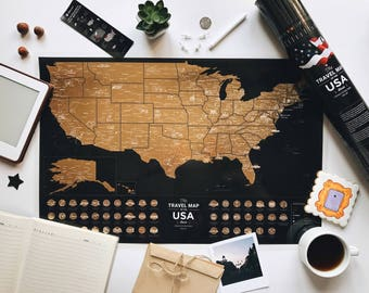 1st Anniversary Gift for Him – Mark States You Have Been To - Free Shipping