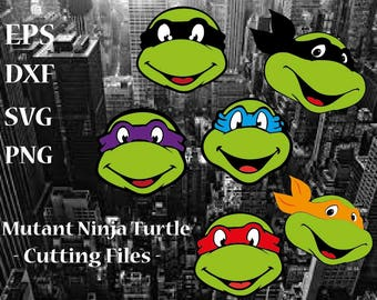 Mutant Ninja Turtle Monogram - Cutting Files Svg Png Eps Dxf Digital Graphic Design Instant Download Commercial Use