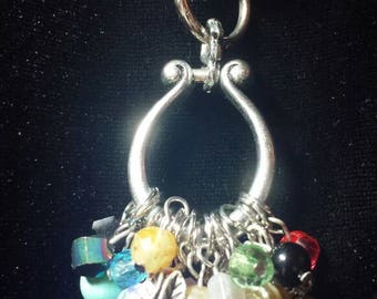 Keychain with multicolored beads of all varieties