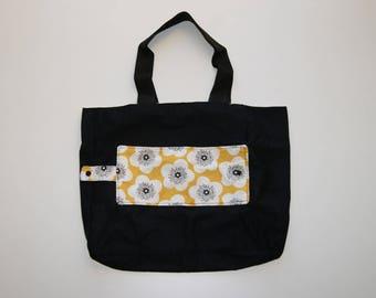 double fabric foldable shopping bag