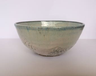 Textured Blue Bowl