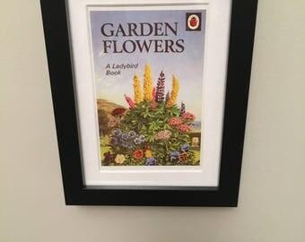 Retro Ladybird Book cover. Garden Flowers
