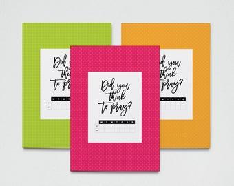 Prayer Tracking Cards