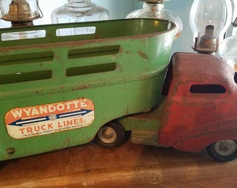 Early Wyandotte Toy Truck,  Pressed Steel