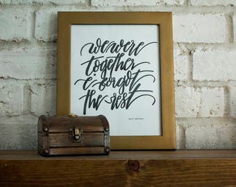 We Were Together I Forgot the Rest // Walt Whitman // Hand-lettered Digital Print // Printable