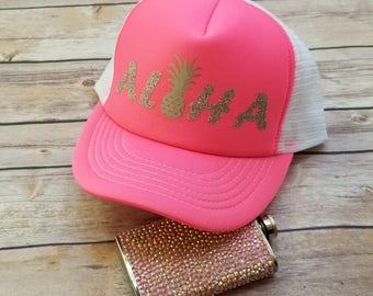 ALOHA Trucker Style Hat