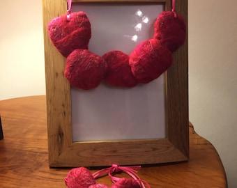 Pink pebble jewellery set