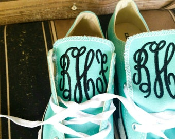 Embroidered Shoes - Personalized Shoes - Wedding Shoes - Monogrammed Shoes - Back To School - Kids Shoes - Women's Shoes - Monogram Gifts